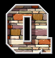 stone letter Q vector image