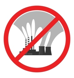 Stop air pollution sign vector image