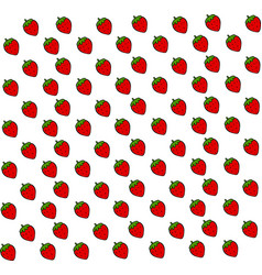 strawberry wallpaper on white background vector image