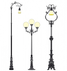 street lamps vector image