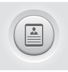 Tablet Grey Button Icon vector