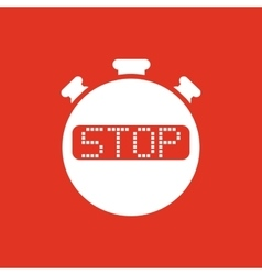 The stop stopwatch icon Clock and watch timer vector image