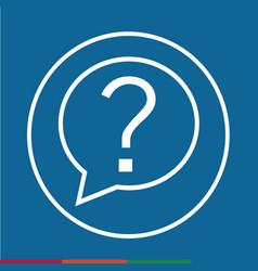 thin line question mark icon design vector image