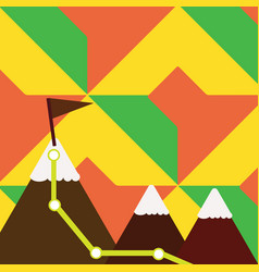 Three colorful mountains with vector