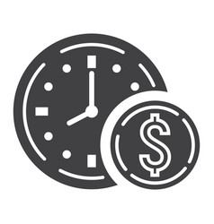 time is money glyph icon business and finance vector image
