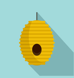 tree bee house icon flat style vector image