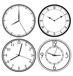 Wall Clock template vector image