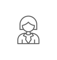 Woman outline icon elements business line icon vector