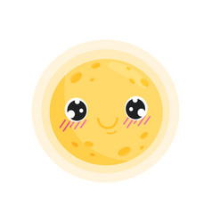 Yellow sun on white background summer concept vector