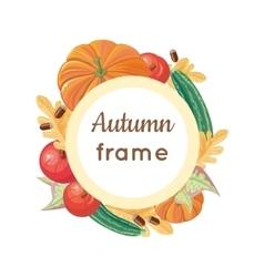 Autumn Frame Concept in Flat Design vector image