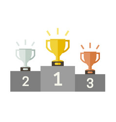 championish cups flat icons vector image