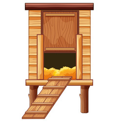 chicken coop made of wood vector image