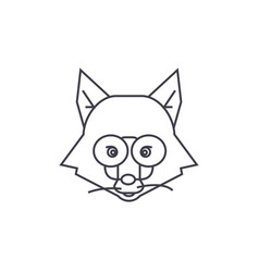 fox head sign line icon sign vector image vector image