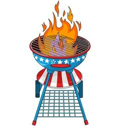 Patriotic barbeque grill vector