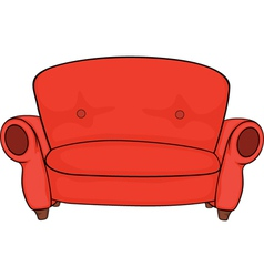 Red sofa vector image vector image