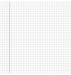 Blank squared paper sheet background vector