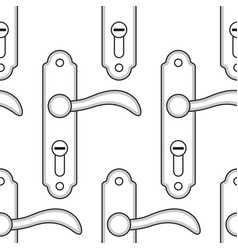 door handle pattern vector image