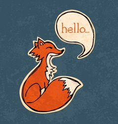 Fox drawing vector image vector image