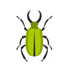 green bug icon flat style vector image vector image