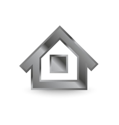 Metal home icon vector image
