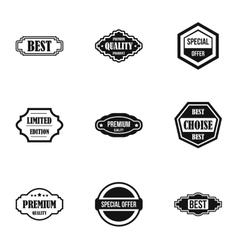 Sticker icons set simple style vector image vector image