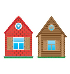 two buildings vector image vector image