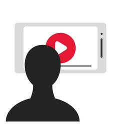Viewer smartphone screen vector