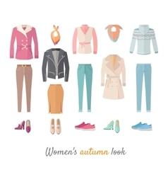 Women s autumn look concept in flat design vector