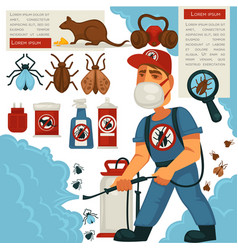 extermination or sanitary domestic disinfection vector image vector image