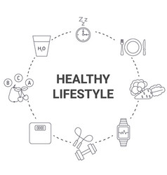 healthy lifestyle concept healthy lifestyle vector image vector image