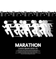 Marathon Runner Sign vector image vector image