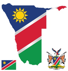 Republic of Namibia Flag vector image vector image