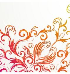 Retro floral background for vintage design vector image