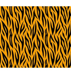 Tiger skin seamless repeated texture Orange and vector image