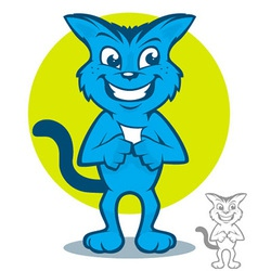 Blue Cat Cartoon vector image vector image