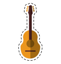 cartoon guitar traditional acoustic music vector image vector image