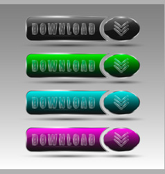 different download buttons vector image
