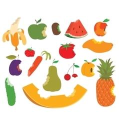 Fruit bite set vector image