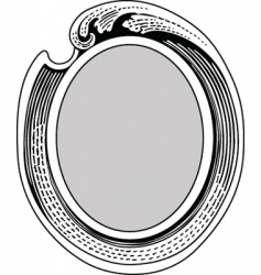 oval ornate frame vector image