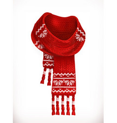 Winter scarf 3d icon vector image vector image