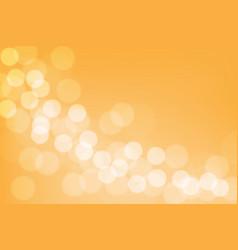 Abstract white bokeh blur on orange background vector
