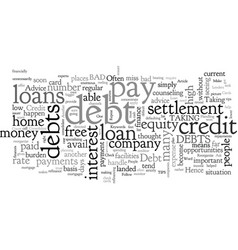 Advice for people with debt woes vector