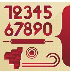 Alphabet elements vector