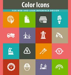 Alternative energy icons set vector