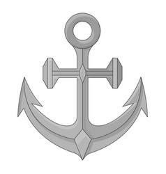 Anchor gray sketch vector