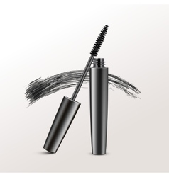 Black Mascara Brush Strokes Isolated on Background vector image