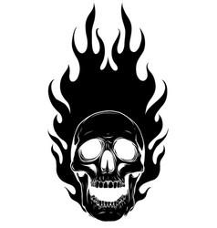 Black silhouette skull image template vector