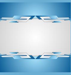 Blue shiny hi-tech motion flyer background vector