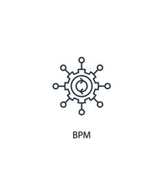 bpm concept line icon simple element vector image
