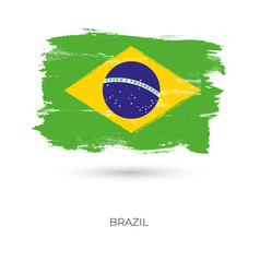 brazil colorful brush strokes painted national vector image